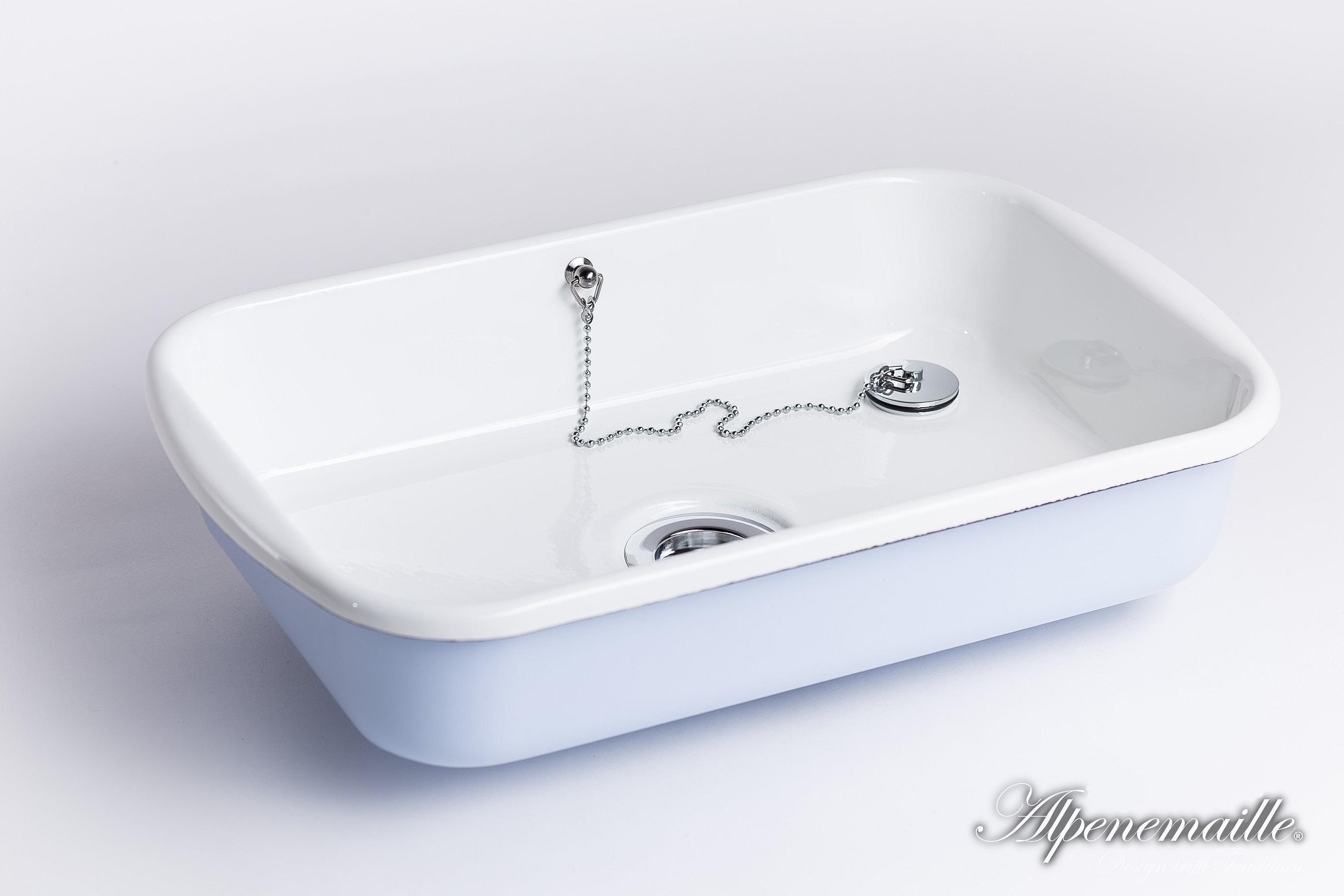 """Premium Emaille Waschbecken """"Hanni"""", 118x118x18cm"""